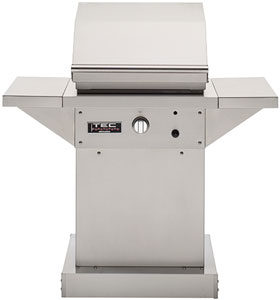 TEC Grills - 26in Patio FR Grill on Stainless Pedestal with Side Shelves (46