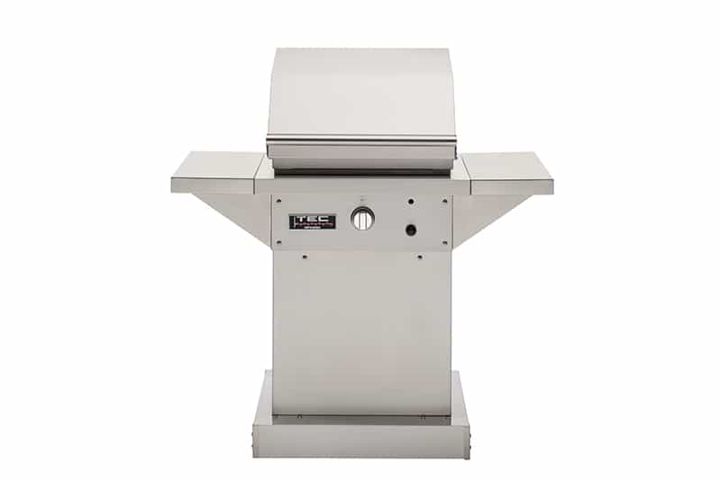 "TEC Grills - 26in Patio FR Grill on Stainless Pedestal with Side Shelves (46"")"