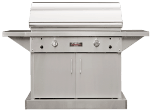 TEC Grills - 44in Freestanding Sterling Patio FR Grill on Stainless Cabinet