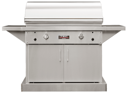 "TEC Grills - 44in Freestanding Sterling Patio FR Grill on Stainless Cabinet (64"")"