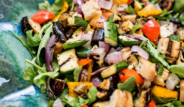 Panzanella Grilled Vegetable Salad | TEC Infrared Grills
