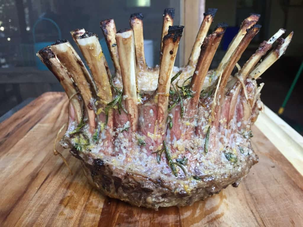 How To Grill A Standing Lamb Crown Roast Tec Infrared Grills
