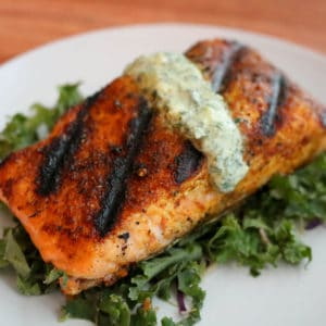 TEC Grills -Grill Resolution: Curry Salmon with Yogurt Mint Sauce