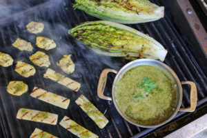 TEC Grills Romantic Italian Dinner - Grilled Hearts Salad with Bagna Cauda