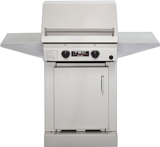 TEC Grills - Sterling II Grill on Stainless Cabinet with 2 Side Shelves