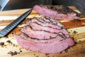 TEC Grills Pastrami - Pastrami Sliced after Resting