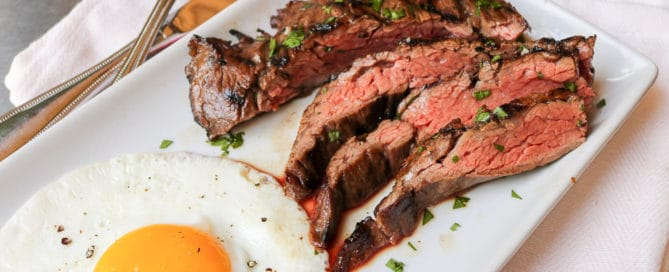 TEC Grills Coffee Marinated Skirt Steak