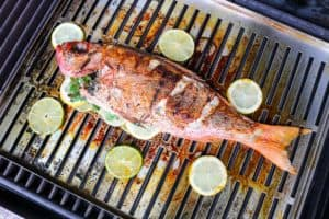 TEC Grills -Grilling Whole Fish - Flipping Fish on the Grill