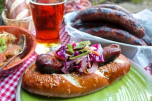TEC Grills - Beer Bratwurst Sandwiches for Oktoberfest