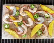 TEC Grills Salt Block Grilling Recipes and Tips - Salt Block Shrimp with Mango and Jalapeno