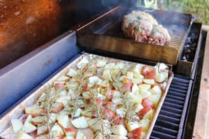 TEC Grills Smoke Roasted Leg of Lamb - Lamb and Rosemary Potatoes