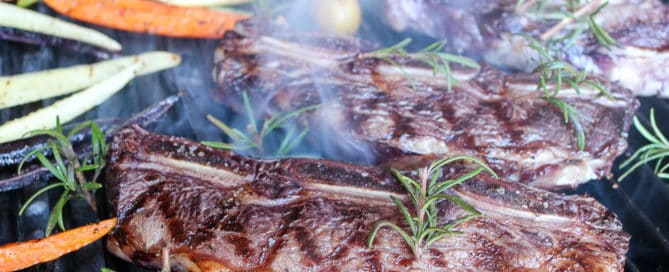 TEC Grills Red Wine and Rosemary Grilled Short Ribs - Short Ribs on the Grill