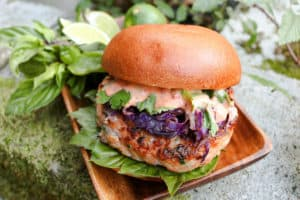 TEC Grills Burger Recipes - Thai Shrimp Burgers