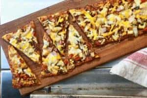 TEC Grills Favorite Kind of Pizza Flatbread