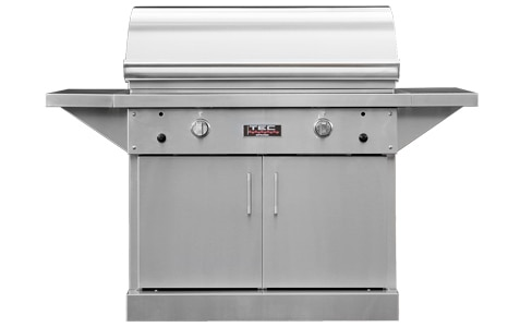 TEC Grills - 44in Freestanding Sterling Patio FR Grill on Stainless Cabinet (64