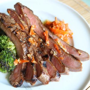 TEC Grills Flank Steak with Carrot Ginger Sauce