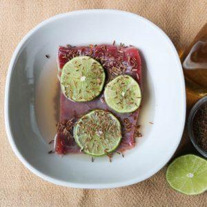 TEC Grills Flank Steak Lime Cumin Marinade
