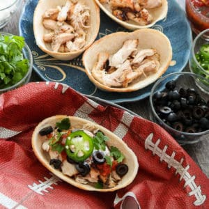 TEC Grills Game Day Recipes - Pulled Chicken Taco Boats