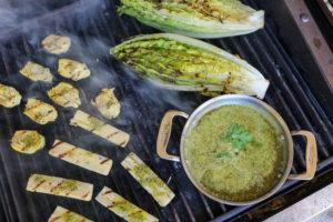 TEC Grills Romantic Italian Dinner - Grilled Hearts Salad with Bagna Cauda