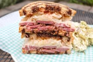 TEC Grills Pastrami - Pastrami Reuben Sandwich