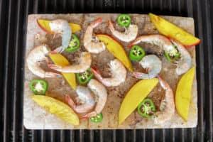 TEC Grills Salt Block Grilling Recipes and Tips - Salt Block Shrimp with Mango and Jalapeno