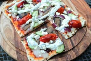 TEC Grills Pizza Recipes - Gyro Flatbread Pizza