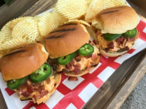 TEC Grills Favorite Bacon Recipes - Pimento Cheese, Bacon and Jalapeno Sliders