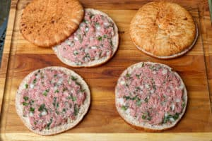 TEC Grills Burger Recipes - Assembling Lamb Pita Burgers with Yogurt Mint Sauce