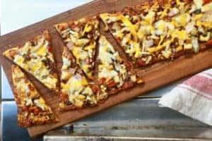 TEC Grills Favorite Kind of Pizza Flatbread