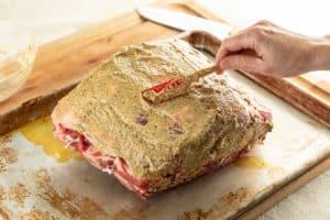 TEC Grills Standing Rib Roast Horseradish Mustard Crust